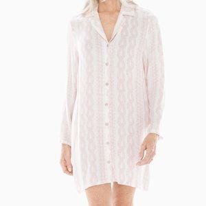 NEW Soma LIGHT NIGHTS Long Sleeve Sleepshirt
